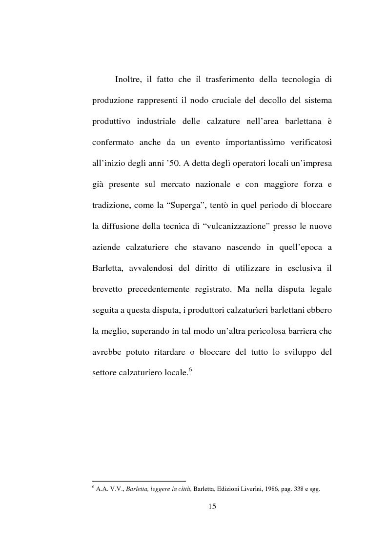 Anteprima della tesi: Evoluzione del settore calzaturiero e tessile a Barletta dagli anni '70 agli anni '90, Pagina 15