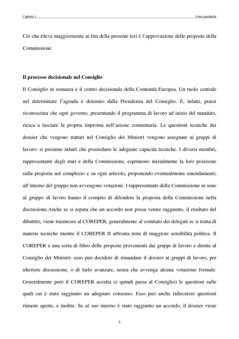 Anteprima della tesi: La politica commerciale estera della UE: l'interazione tra lobbies, Commissione e Consiglio, Pagina 12