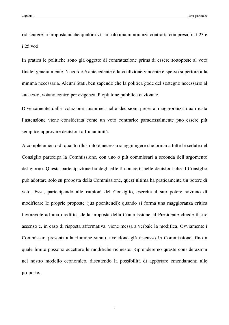 Anteprima della tesi: La politica commerciale estera della UE: l'interazione tra lobbies, Commissione e Consiglio, Pagina 15