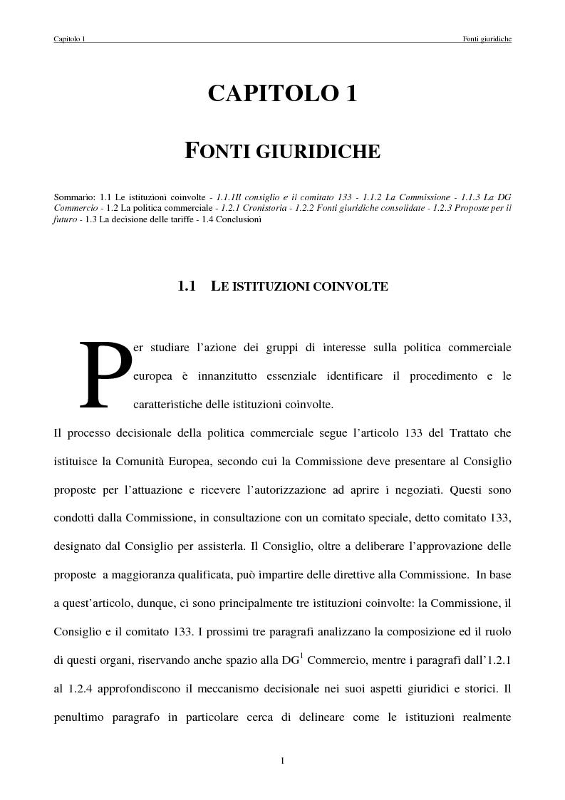 Anteprima della tesi: La politica commerciale estera della UE: l'interazione tra lobbies, Commissione e Consiglio, Pagina 8