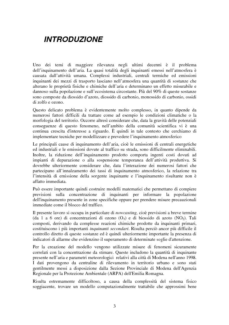Anteprima della tesi: Applicazione di tecniche di intelligenza artificiale per lo studio della relazione fra l'inquinamento atmosferico e le sue concause, Pagina 1