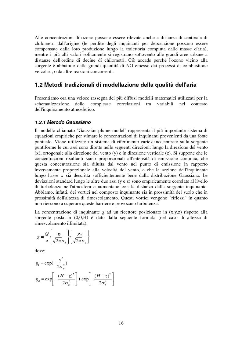 Anteprima della tesi: Applicazione di tecniche di intelligenza artificiale per lo studio della relazione fra l'inquinamento atmosferico e le sue concause, Pagina 14