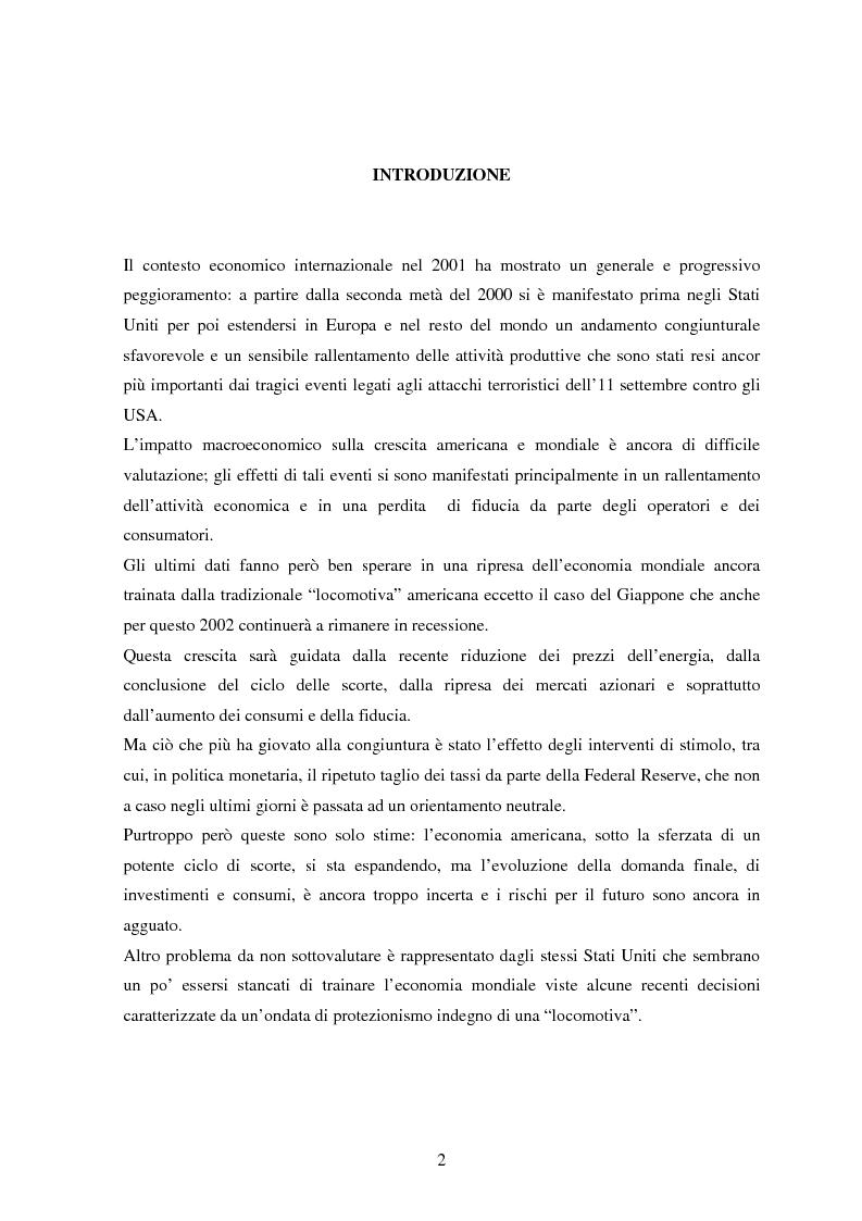 Anteprima della tesi: Profilo macroeconomico comparato dell'Italia ed analisi competitiva, Pagina 1