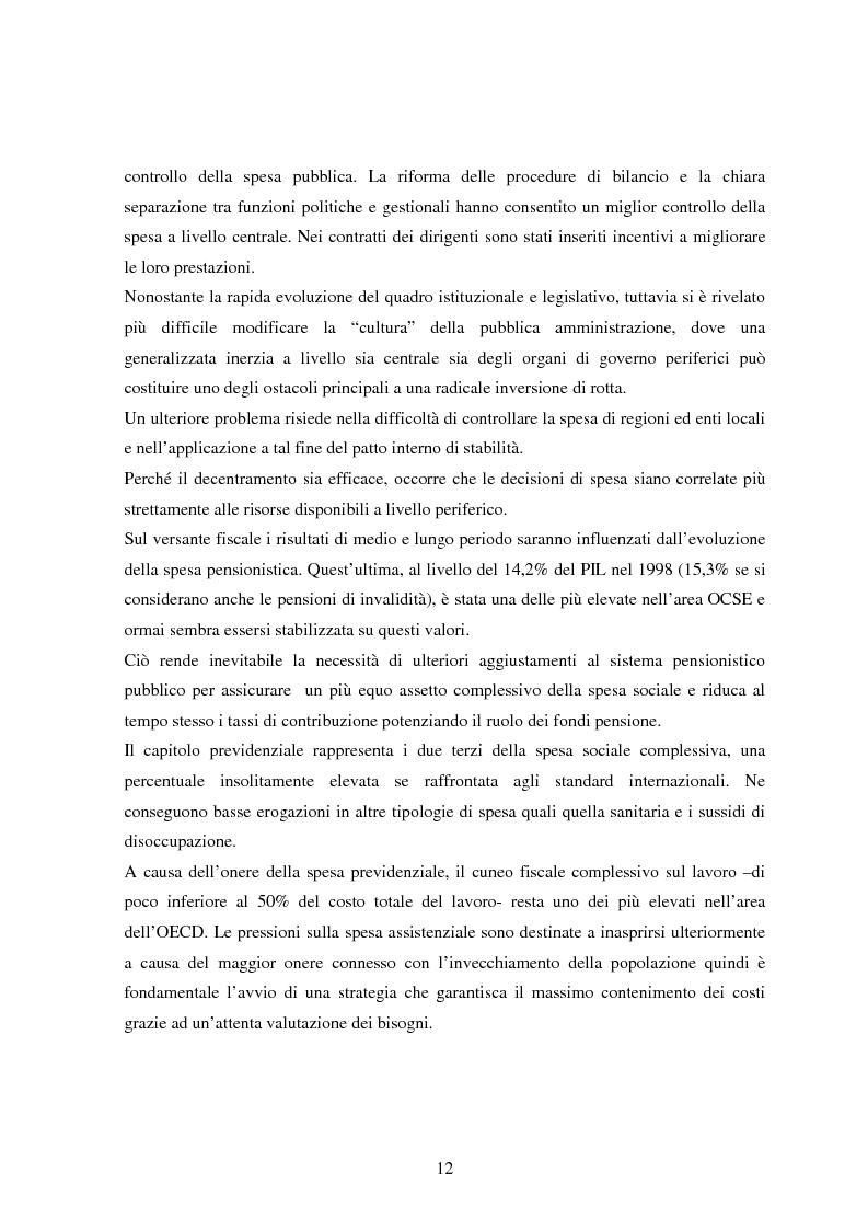 Anteprima della tesi: Profilo macroeconomico comparato dell'Italia ed analisi competitiva, Pagina 11