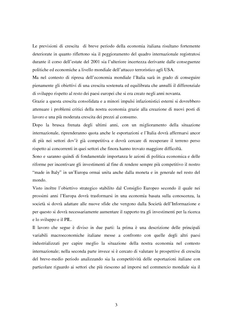 Anteprima della tesi: Profilo macroeconomico comparato dell'Italia ed analisi competitiva, Pagina 2