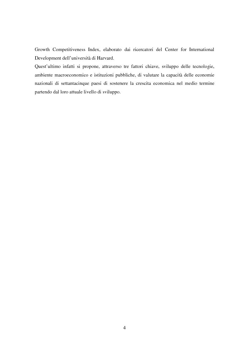 Anteprima della tesi: Profilo macroeconomico comparato dell'Italia ed analisi competitiva, Pagina 3
