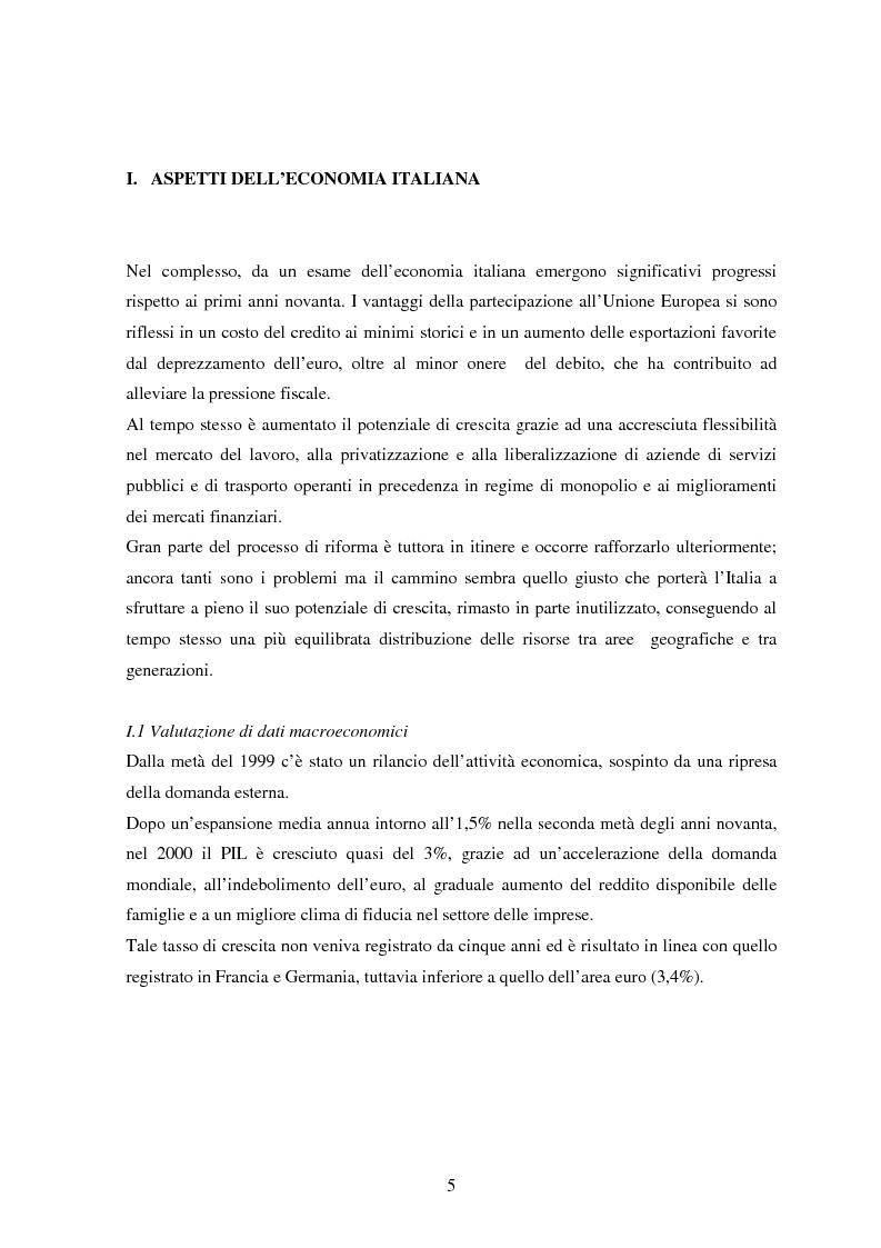 Anteprima della tesi: Profilo macroeconomico comparato dell'Italia ed analisi competitiva, Pagina 4