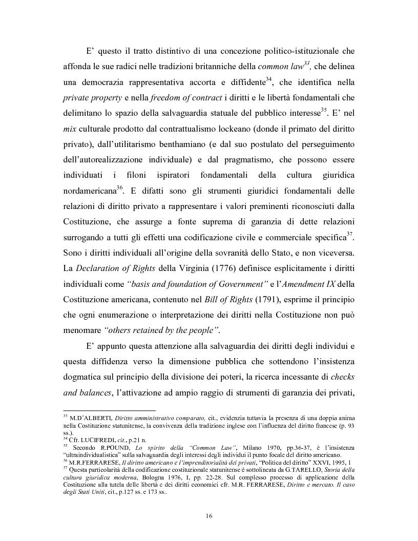 Anteprima della tesi: Il modello delle amministrazioni indipendenti in Italia e negli Stati Uniti. Profili comparati di disciplina della concorrenza., Pagina 12