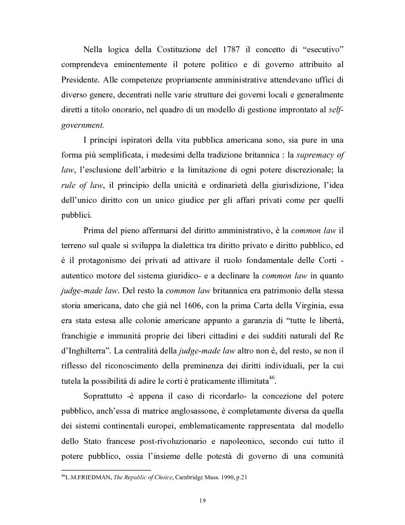 Anteprima della tesi: Il modello delle amministrazioni indipendenti in Italia e negli Stati Uniti. Profili comparati di disciplina della concorrenza., Pagina 15