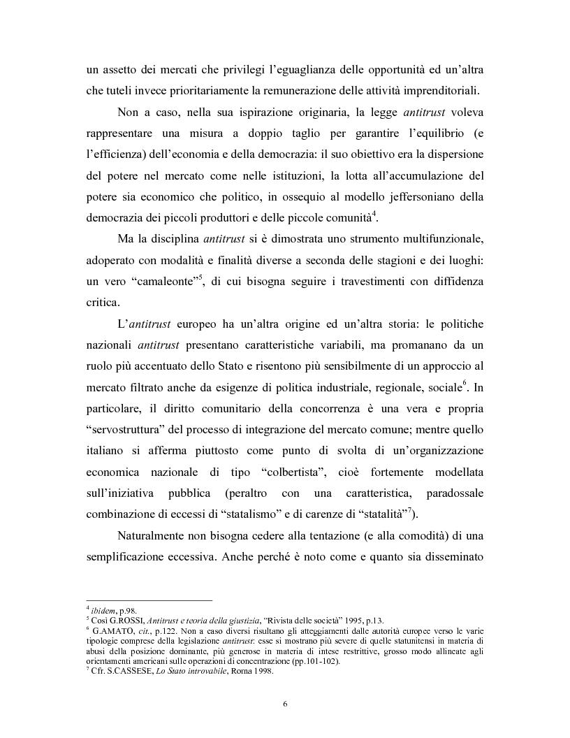 Anteprima della tesi: Il modello delle amministrazioni indipendenti in Italia e negli Stati Uniti. Profili comparati di disciplina della concorrenza., Pagina 2