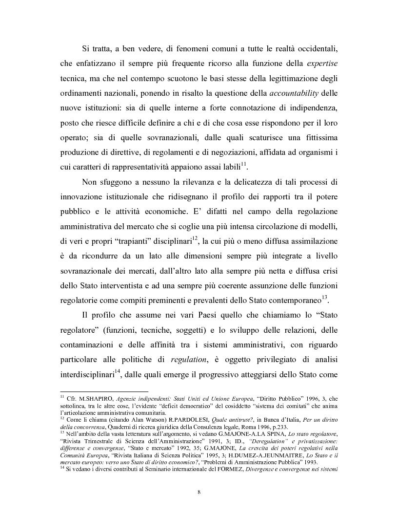 Anteprima della tesi: Il modello delle amministrazioni indipendenti in Italia e negli Stati Uniti. Profili comparati di disciplina della concorrenza., Pagina 4