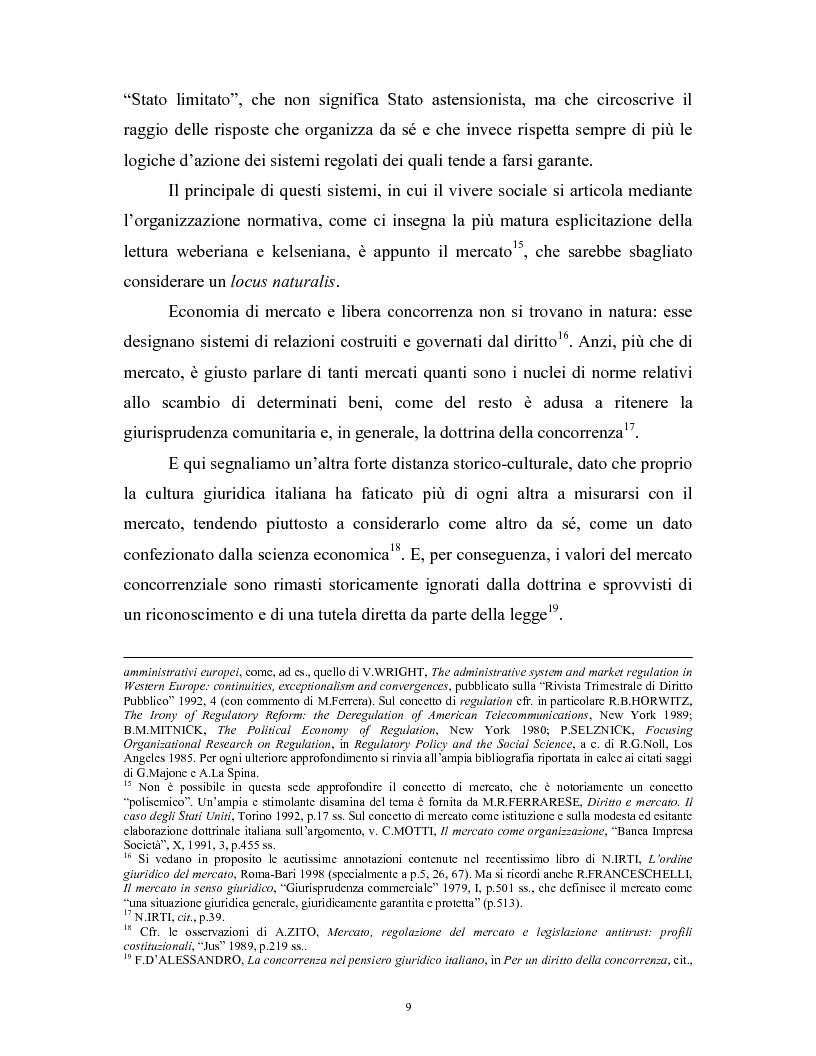 Anteprima della tesi: Il modello delle amministrazioni indipendenti in Italia e negli Stati Uniti. Profili comparati di disciplina della concorrenza., Pagina 5