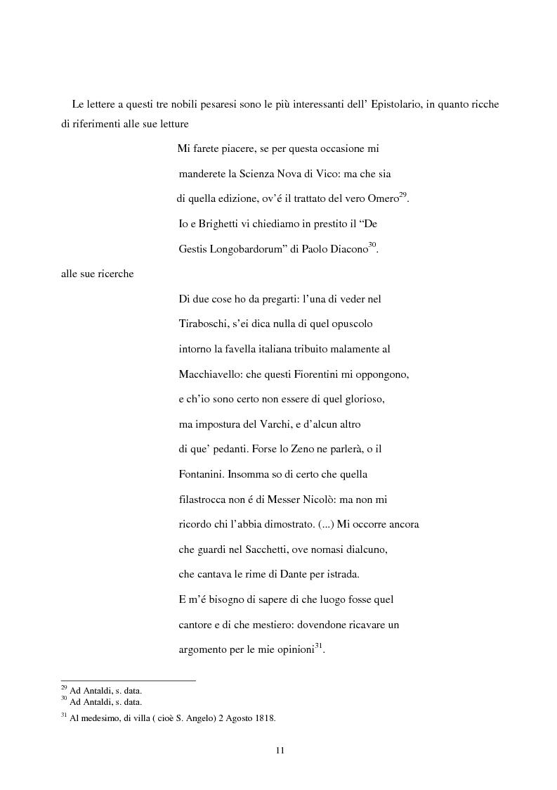 Anteprima della tesi: Le lettere familiari di Giulio Perticari, Pagina 10