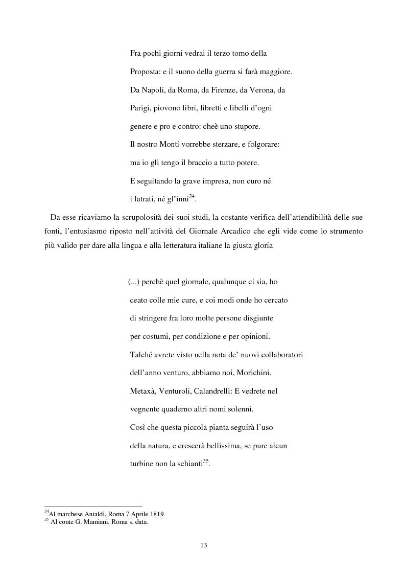 Anteprima della tesi: Le lettere familiari di Giulio Perticari, Pagina 12