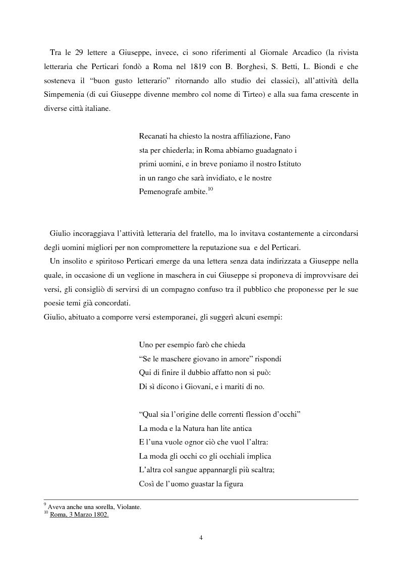 Anteprima della tesi: Le lettere familiari di Giulio Perticari, Pagina 3