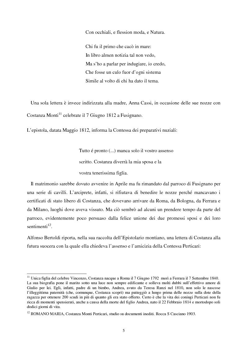 Anteprima della tesi: Le lettere familiari di Giulio Perticari, Pagina 4