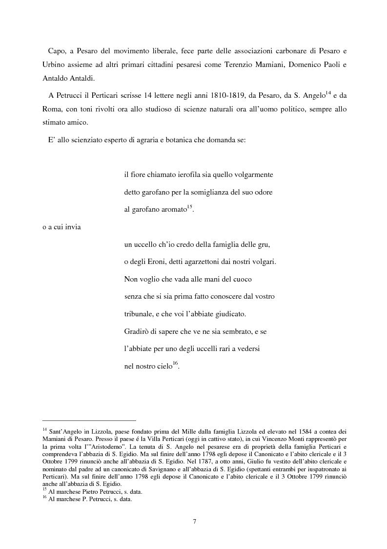 Anteprima della tesi: Le lettere familiari di Giulio Perticari, Pagina 6