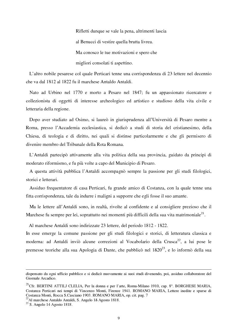 Anteprima della tesi: Le lettere familiari di Giulio Perticari, Pagina 8