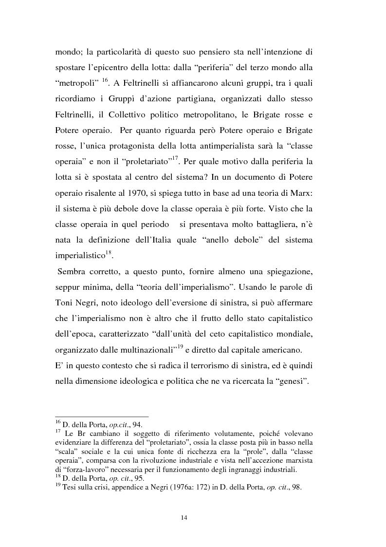 Anteprima della tesi: L'art. 270bis nella più recente giurisprudenza, Pagina 13