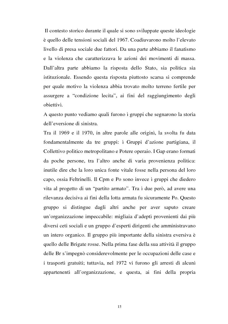 Anteprima della tesi: L'art. 270bis nella più recente giurisprudenza, Pagina 14