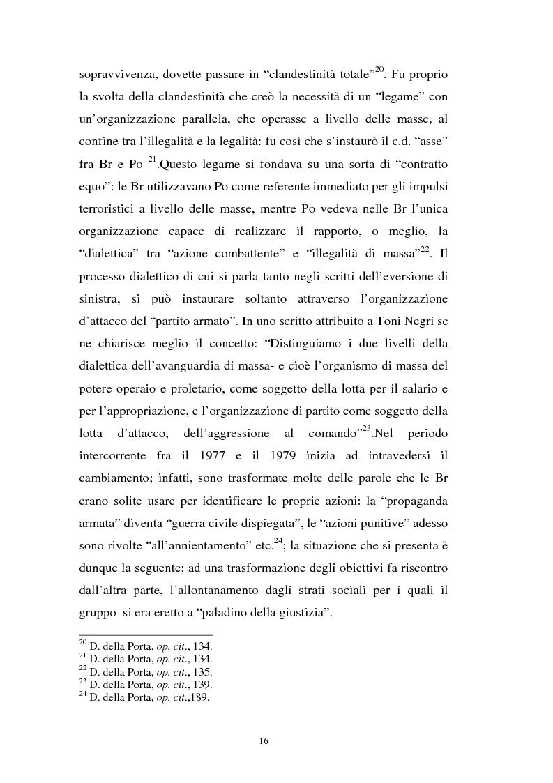 Anteprima della tesi: L'art. 270bis nella più recente giurisprudenza, Pagina 15