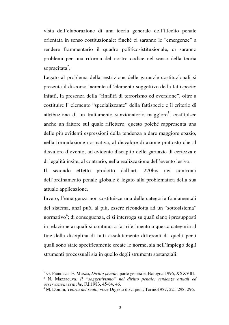 Anteprima della tesi: L'art. 270bis nella più recente giurisprudenza, Pagina 2