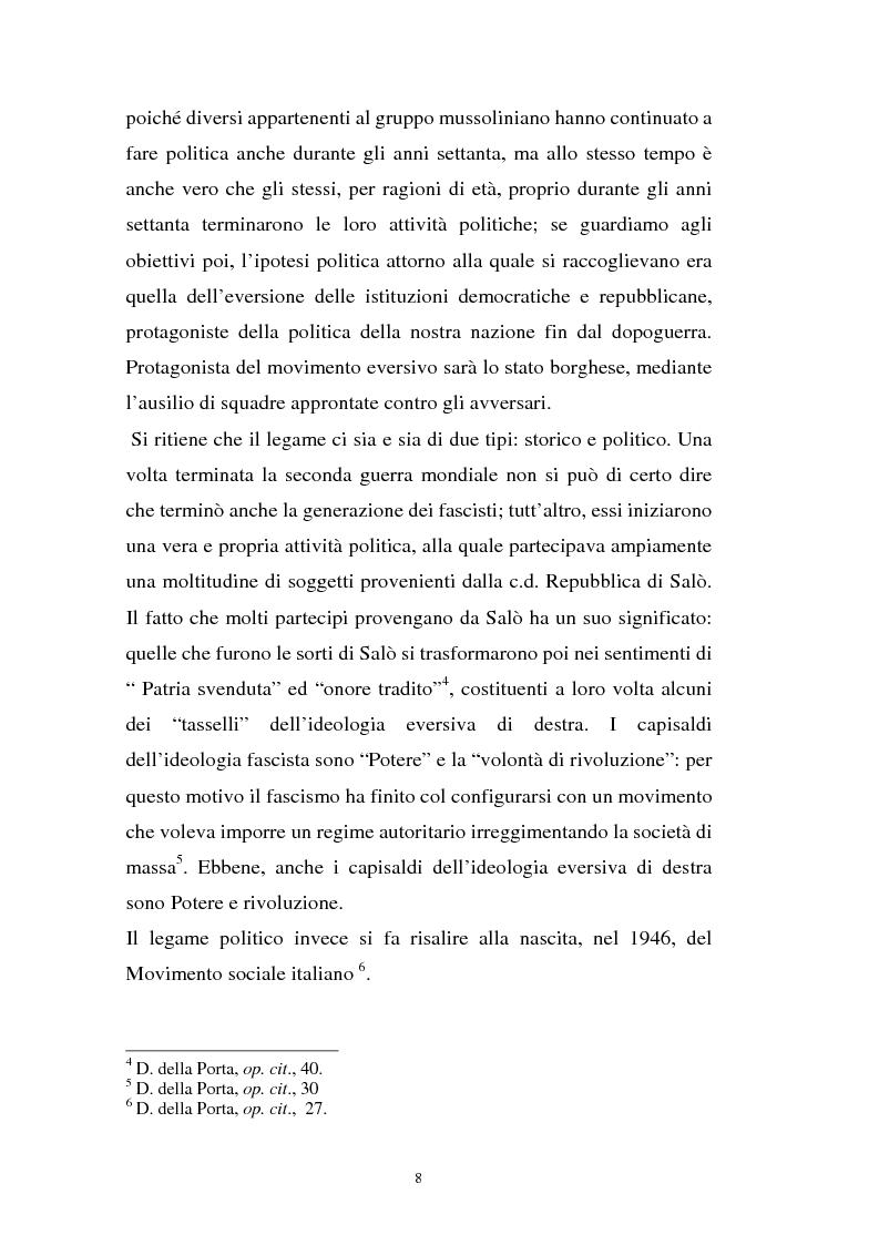 Anteprima della tesi: L'art. 270bis nella più recente giurisprudenza, Pagina 7