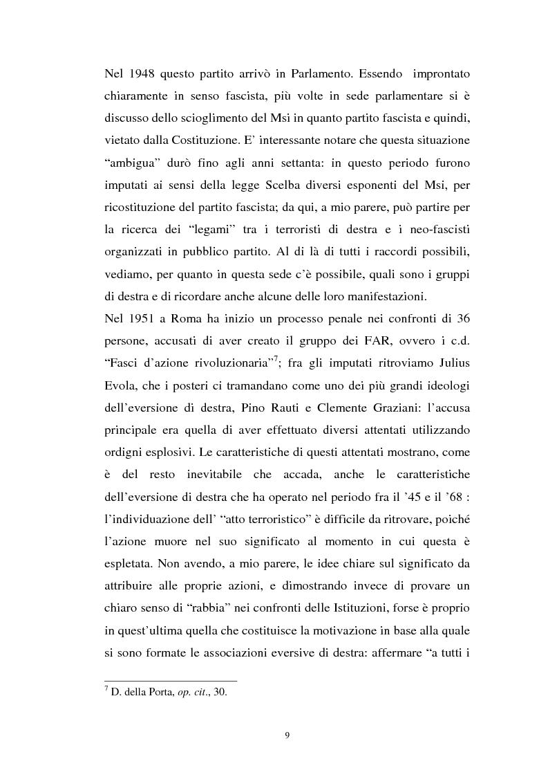 Anteprima della tesi: L'art. 270bis nella più recente giurisprudenza, Pagina 8