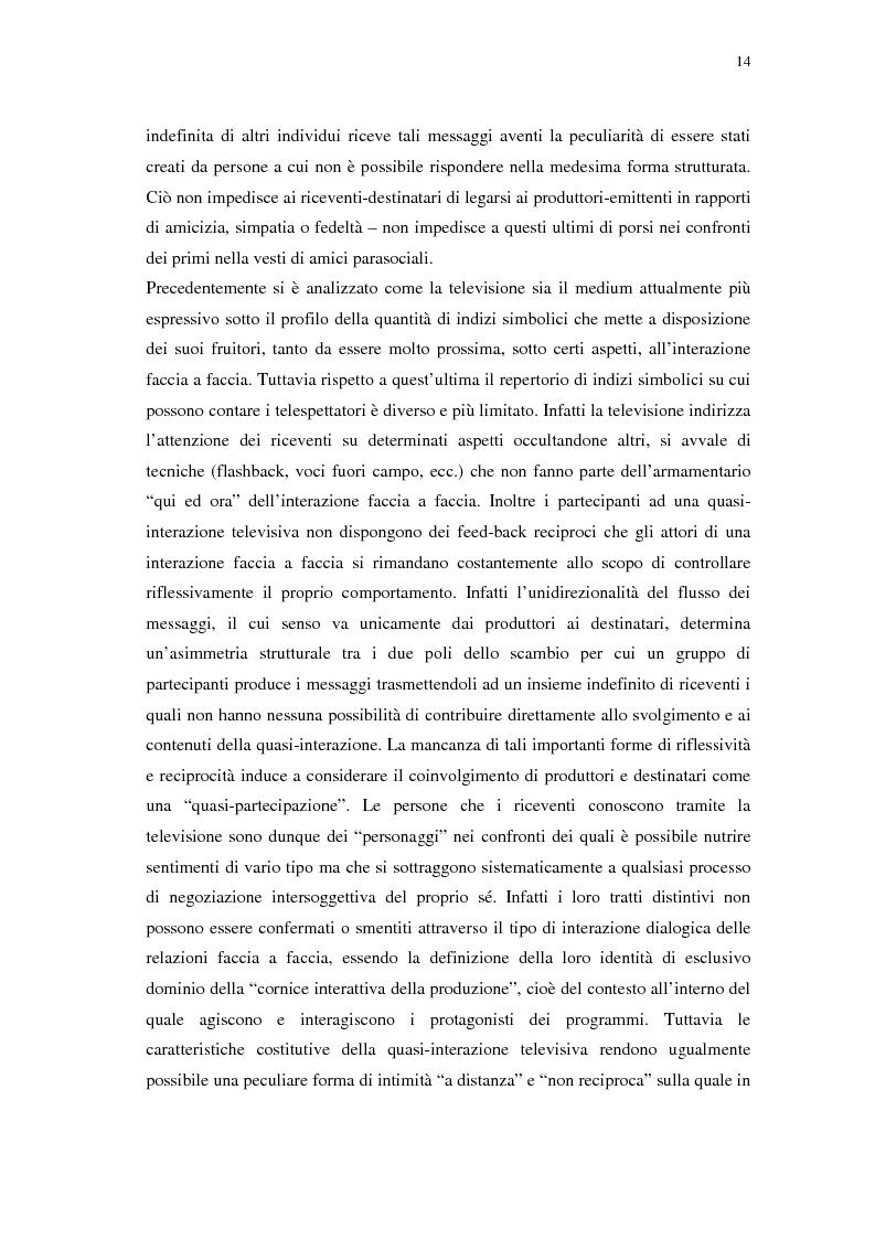 Anteprima della tesi: Grande Fratello: un prototipo di merce simbolica a distribuzione globale, Pagina 14