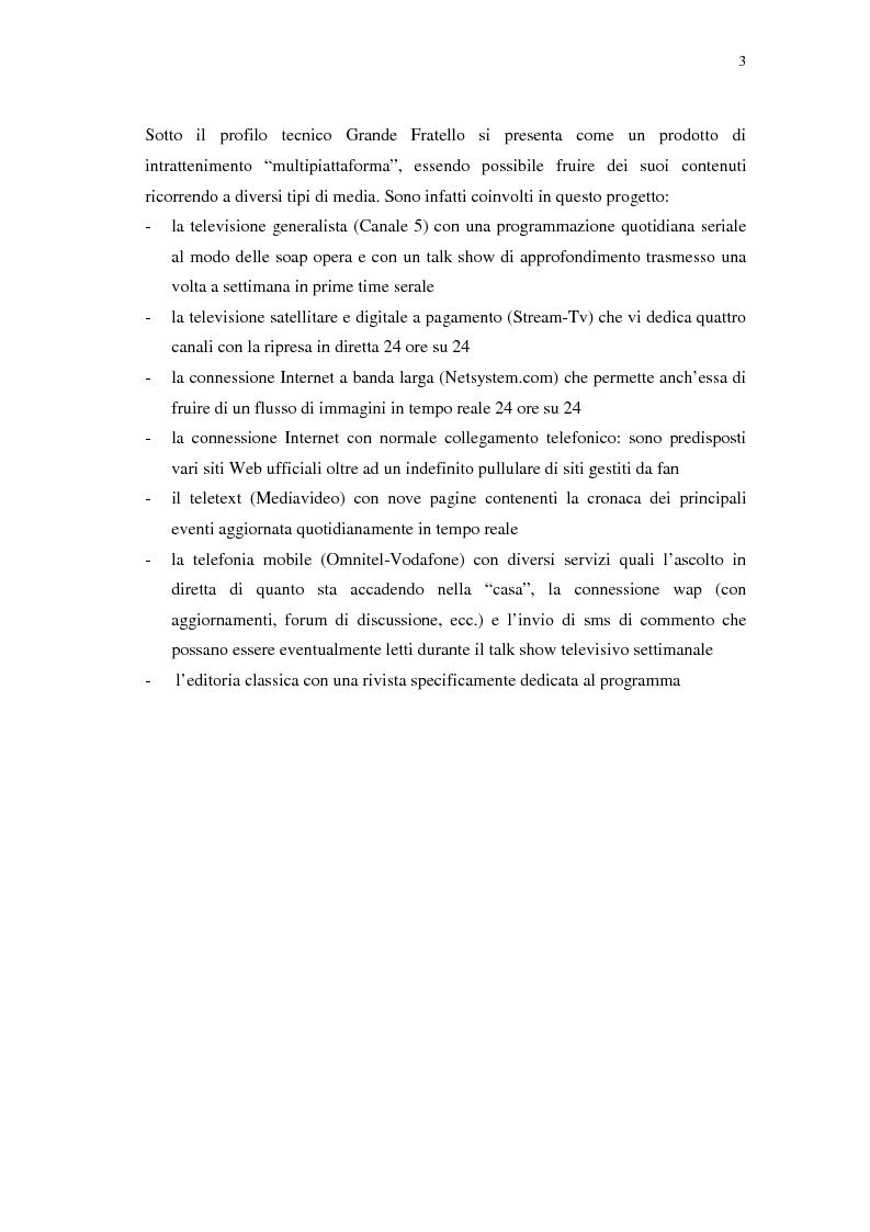 Anteprima della tesi: Grande Fratello: un prototipo di merce simbolica a distribuzione globale, Pagina 3