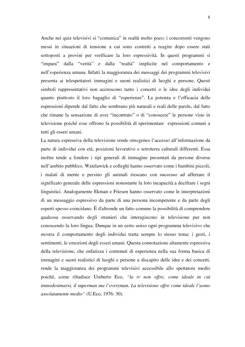 Anteprima della tesi: Grande Fratello: un prototipo di merce simbolica a distribuzione globale, Pagina 8