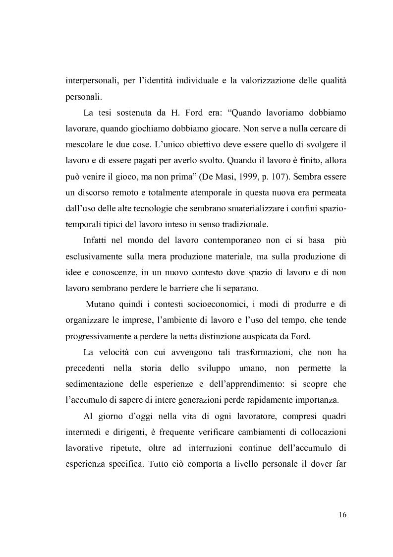 Anteprima della tesi: Giovani, lavoro e qualità della vita. Indagine esplorativa condotta su un campione di lavoratori autonomi e dipendenti, Pagina 13