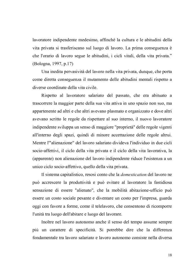 Anteprima della tesi: Giovani, lavoro e qualità della vita. Indagine esplorativa condotta su un campione di lavoratori autonomi e dipendenti, Pagina 15