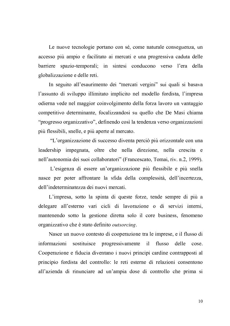 Anteprima della tesi: Giovani, lavoro e qualità della vita. Indagine esplorativa condotta su un campione di lavoratori autonomi e dipendenti, Pagina 7