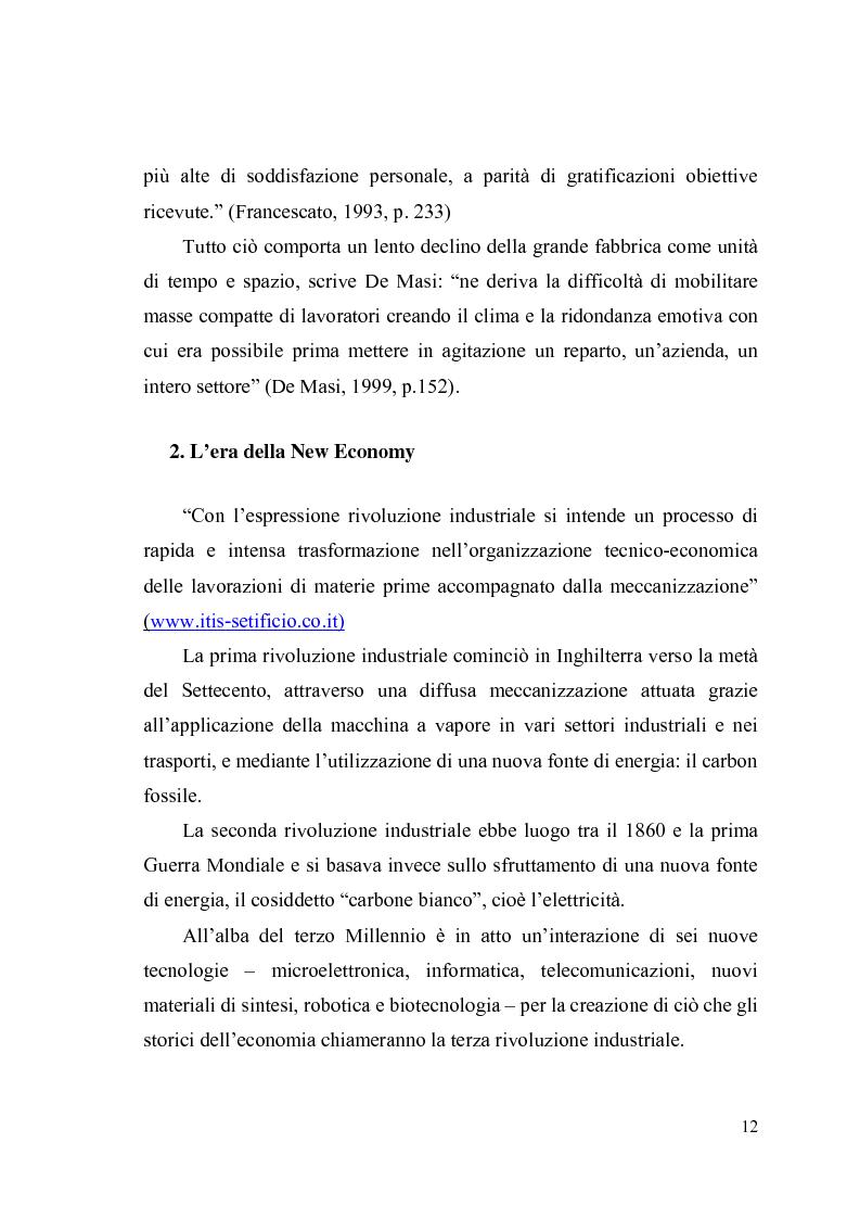 Anteprima della tesi: Giovani, lavoro e qualità della vita. Indagine esplorativa condotta su un campione di lavoratori autonomi e dipendenti, Pagina 9