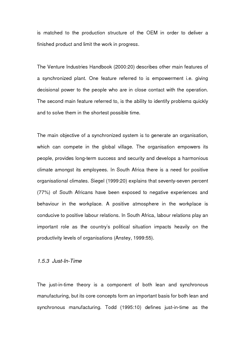 Anteprima della tesi: The effects of line-side supply on individuals employed in satellite operations within automotive maunfacturers, Pagina 9