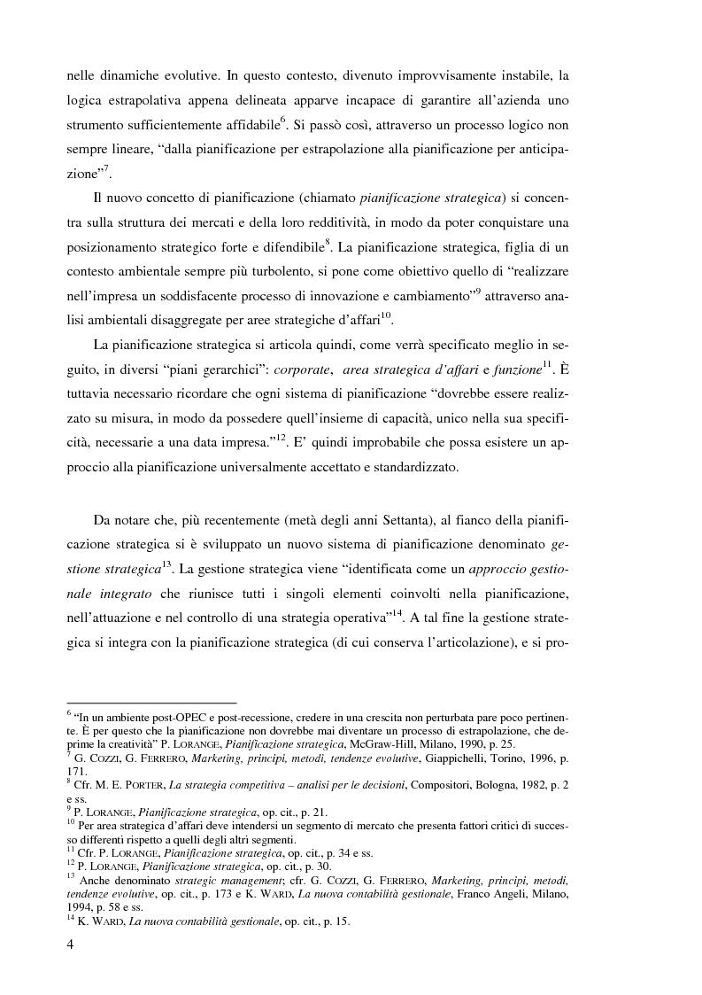 Anteprima della tesi: Il controllo di gestione nelle imprese che operano su commessa: il caso del Gruppo Ecotec, Pagina 4
