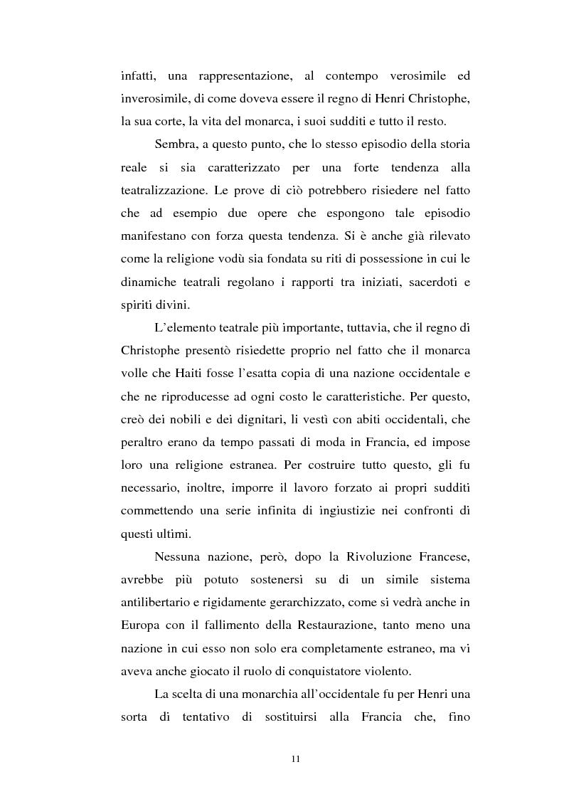 Anteprima della tesi: Le Roi Christophe tra mondo francofono e mondo ispanofono: Aimè Cèsaire e Alejo Carpentier, Pagina 11