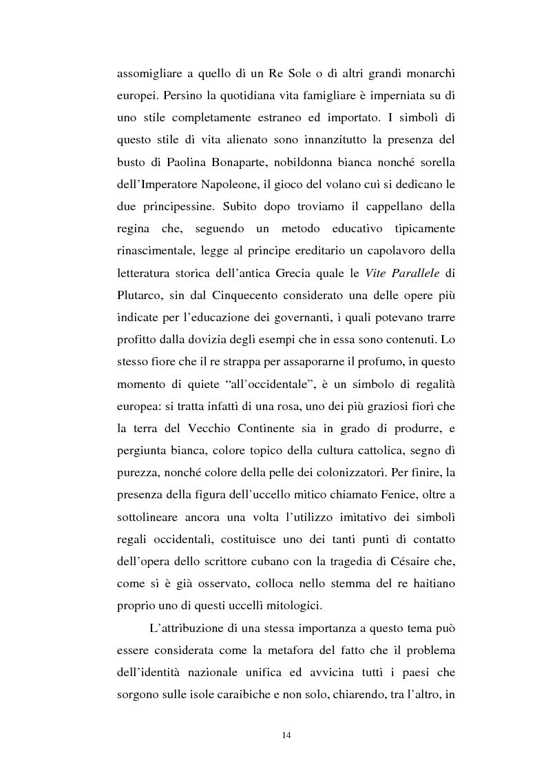 Anteprima della tesi: Le Roi Christophe tra mondo francofono e mondo ispanofono: Aimè Cèsaire e Alejo Carpentier, Pagina 14
