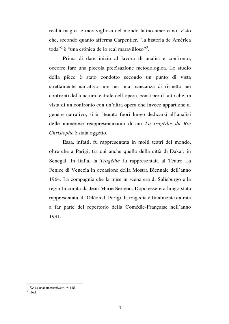 Anteprima della tesi: Le Roi Christophe tra mondo francofono e mondo ispanofono: Aimè Cèsaire e Alejo Carpentier, Pagina 3