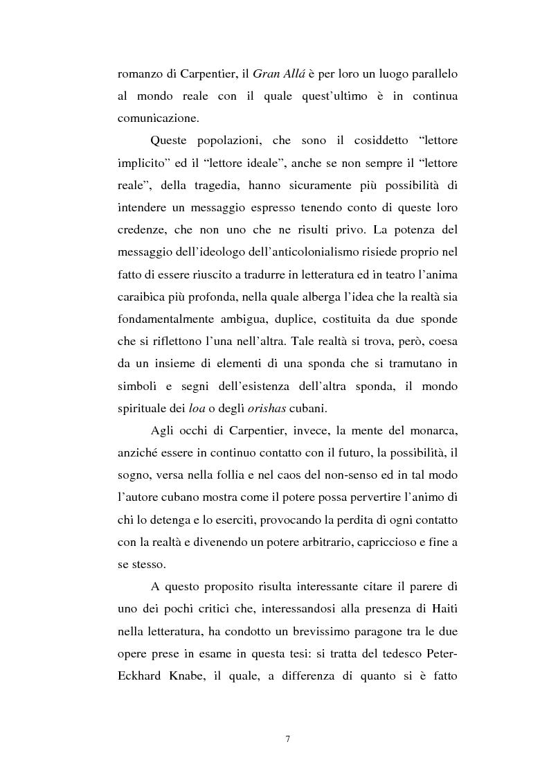 Anteprima della tesi: Le Roi Christophe tra mondo francofono e mondo ispanofono: Aimè Cèsaire e Alejo Carpentier, Pagina 7