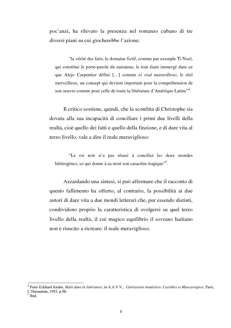 Anteprima della tesi: Le Roi Christophe tra mondo francofono e mondo ispanofono: Aimè Cèsaire e Alejo Carpentier, Pagina 8