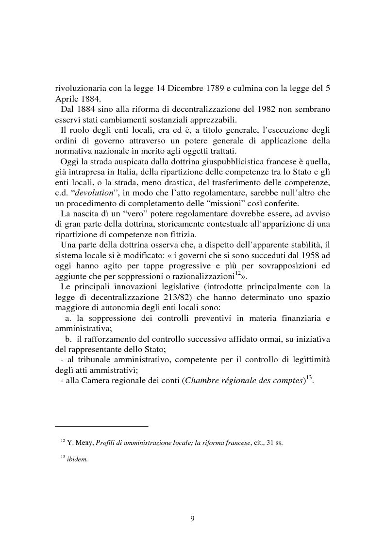 Anteprima della tesi: Procedimenti deliberativi negli enti locali; l'esperienza francese, Pagina 10