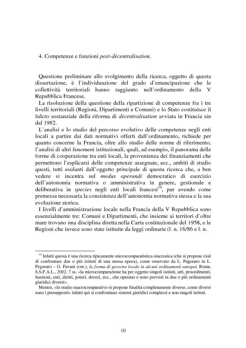 Anteprima della tesi: Procedimenti deliberativi negli enti locali; l'esperienza francese, Pagina 11