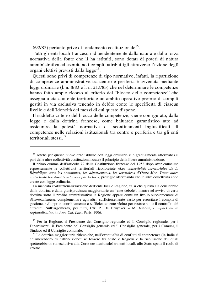 Anteprima della tesi: Procedimenti deliberativi negli enti locali; l'esperienza francese, Pagina 12