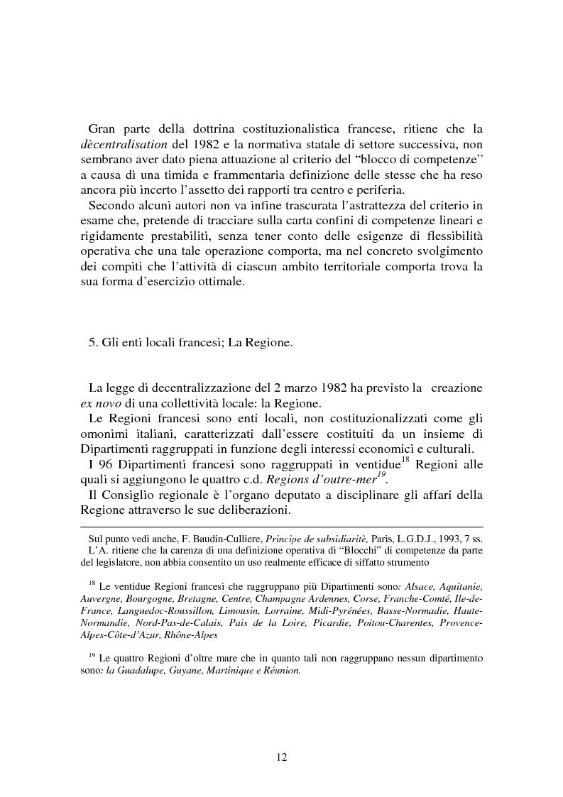 Anteprima della tesi: Procedimenti deliberativi negli enti locali; l'esperienza francese, Pagina 13