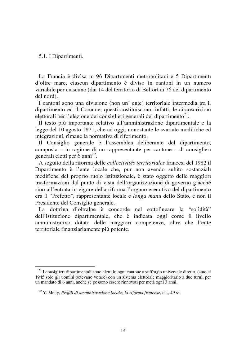 Anteprima della tesi: Procedimenti deliberativi negli enti locali; l'esperienza francese, Pagina 15