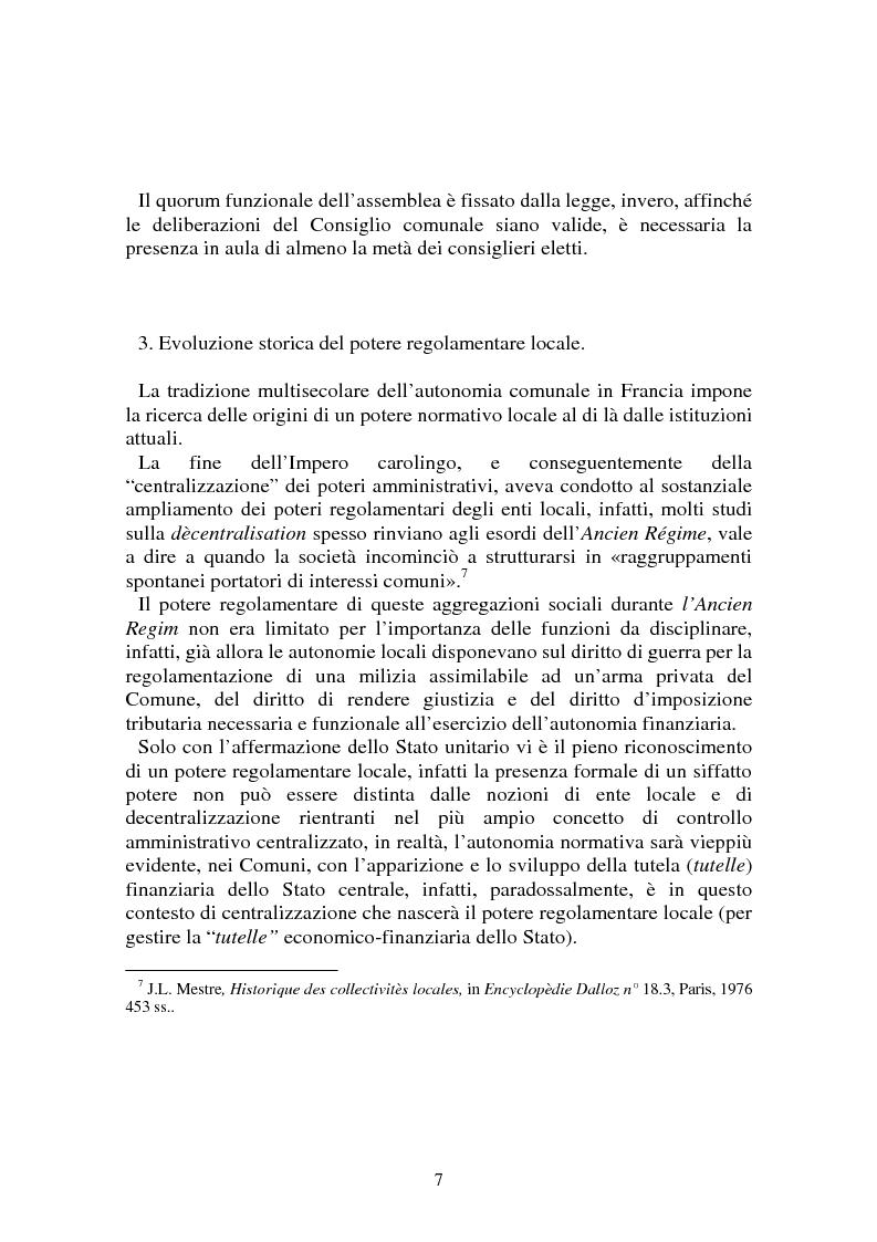 Anteprima della tesi: Procedimenti deliberativi negli enti locali; l'esperienza francese, Pagina 8