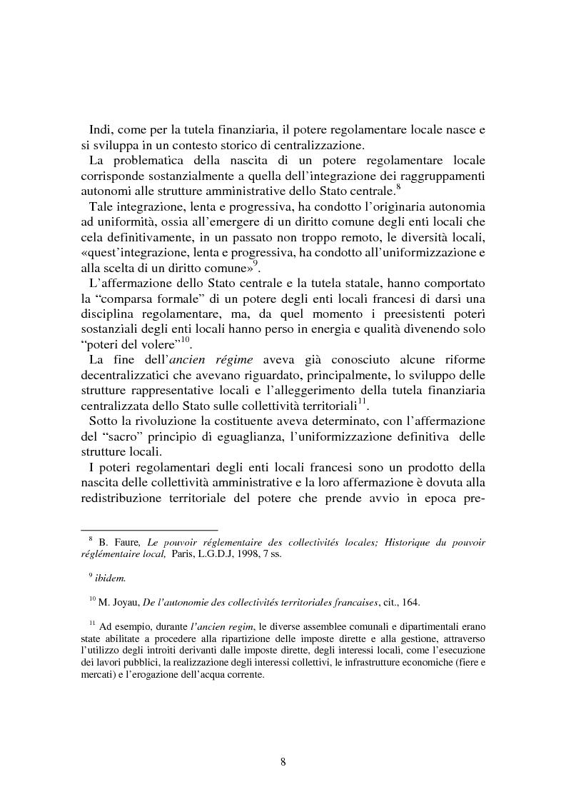 Anteprima della tesi: Procedimenti deliberativi negli enti locali; l'esperienza francese, Pagina 9