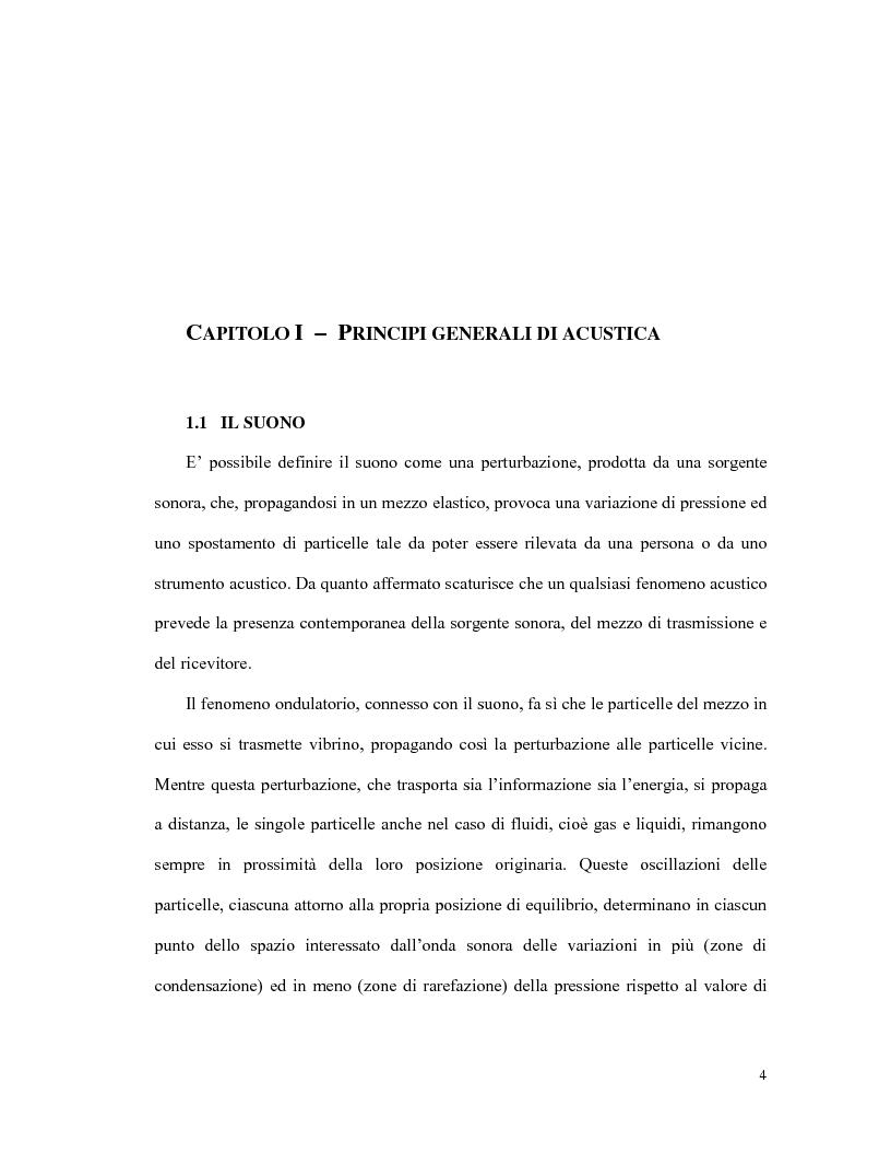 Anteprima della tesi: L'olografia acustica: uno strumento per l'analisi della trasmissione sonora, Pagina 4
